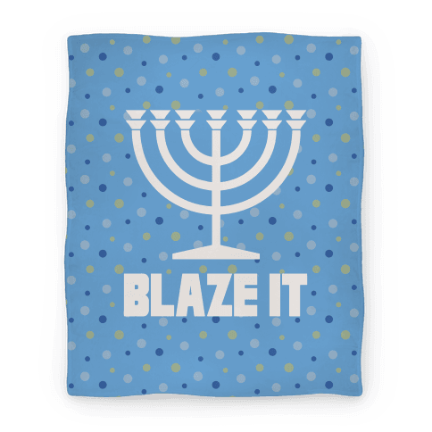 Blaze It Menorah Blanket