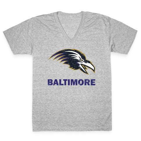 Baltimore (Vintage) V-Neck Tee Shirt