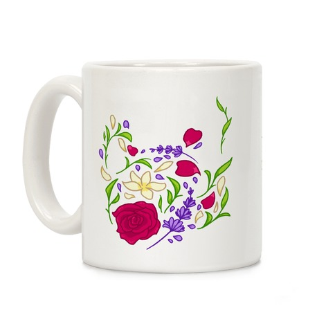 Floral Teapot Coffee Mug