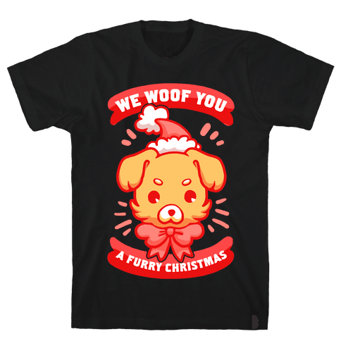 We Woof You A Furry Christmas Mens T-Shirt