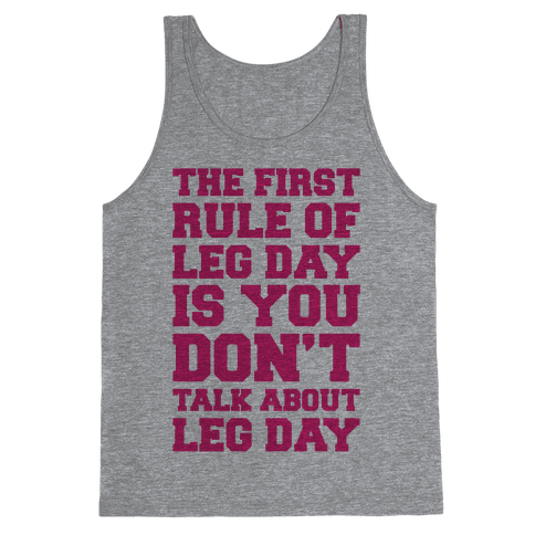 Leg Day Club Tank Top