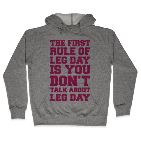 Leg Day Club Hooded Sweatshirt