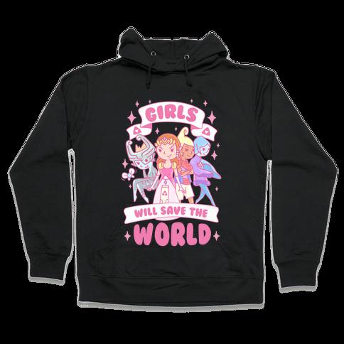 Zelda Girls Will Save The World Parody Hooded Sweatshirt