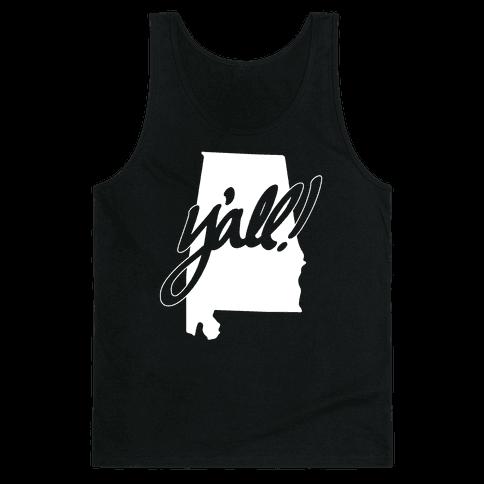 Y'all! (Alabama) Tank Top