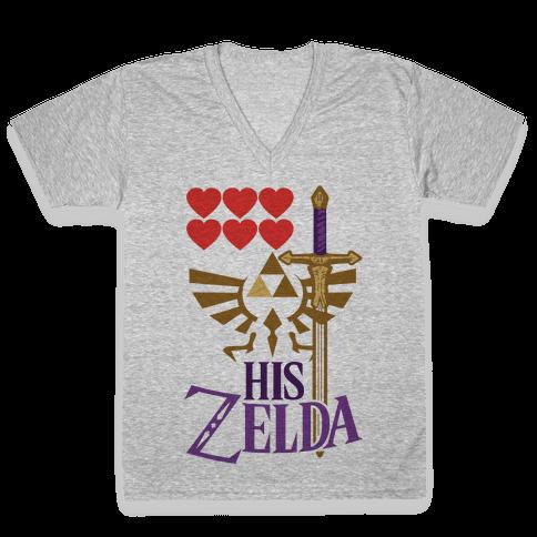 His Zelda (Part 1) V-Neck Tee Shirt