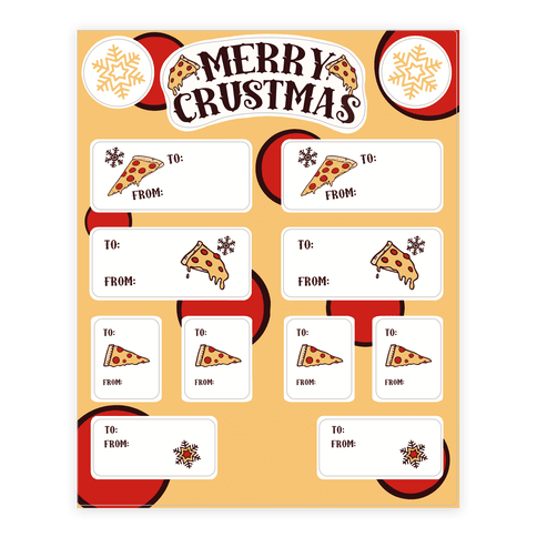 Merry Crustmas Gift Tags Sticker/Decal Sheet