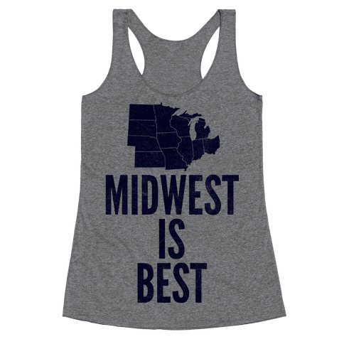Midwest Is Best Racerback Tank Top
