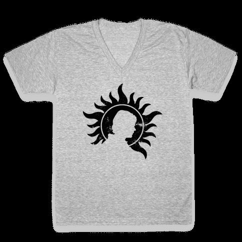 Sam Winchester V-Neck Tee Shirt