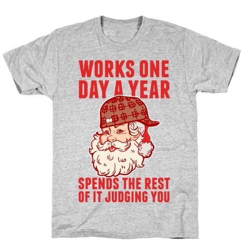 Scumbag Santa Mens T-Shirt