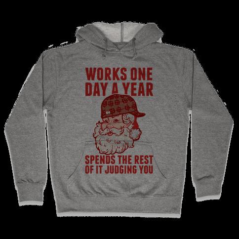 Scumbag Santa Hooded Sweatshirt
