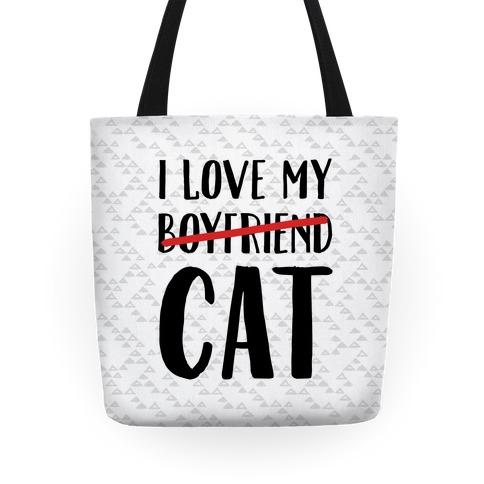 I Love My Boyfriend (Cat) Tote
