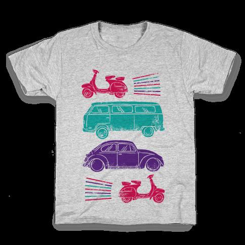 The 1960's Hippie Traveler Kids T-Shirt