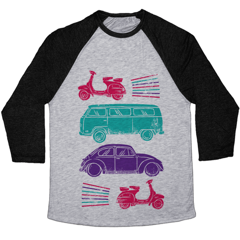 The 1960's Hippie Traveler Baseball Tee
