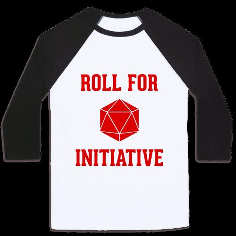 Roll For Initiative Baseball Tee