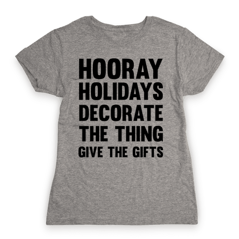 Hooray Holidays Womens T-Shirt