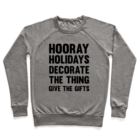 Hooray Holidays Pullover