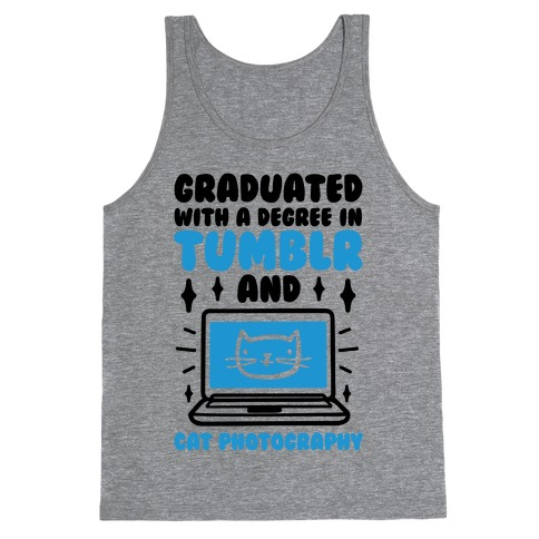 Graduated With A Degree In Tumblr And Cat Photography Tank Top