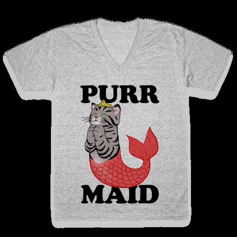 Purr Maid V-Neck Tee Shirt