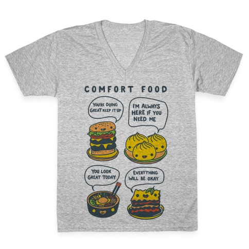 Comfort Food V-Neck Tee Shirt
