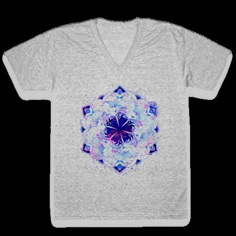 Unicorn Space Ring V-Neck Tee Shirt