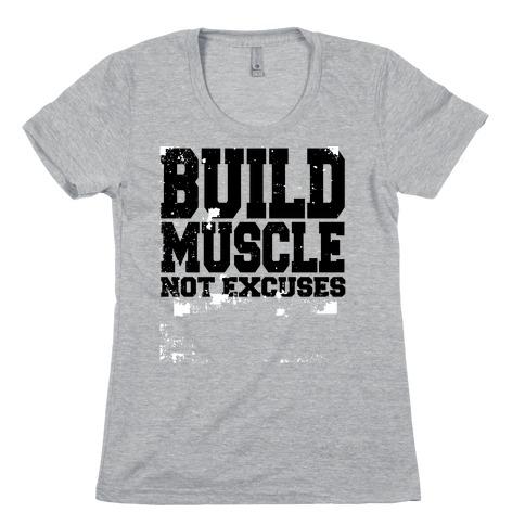 Build Muscle Womens T-Shirt