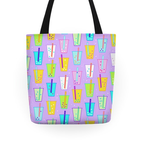 Boba Bubble Tea Pattern Tote