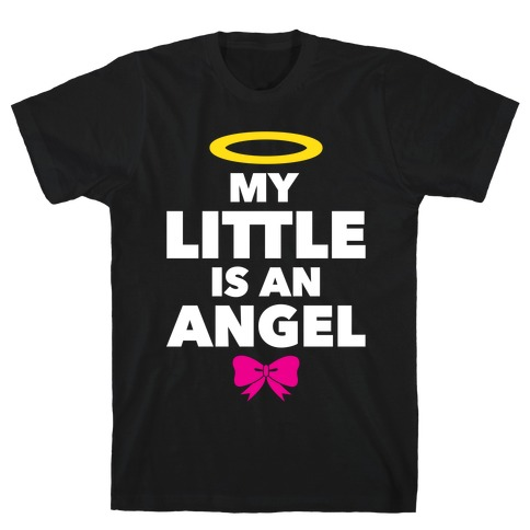 My Little Is An Angel Mens T-Shirt