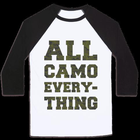 All Camo Everything Baseball Tee