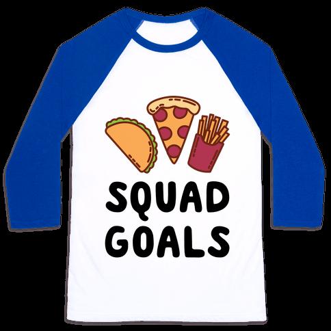 Junk Food Squad Goals Baseball Tee