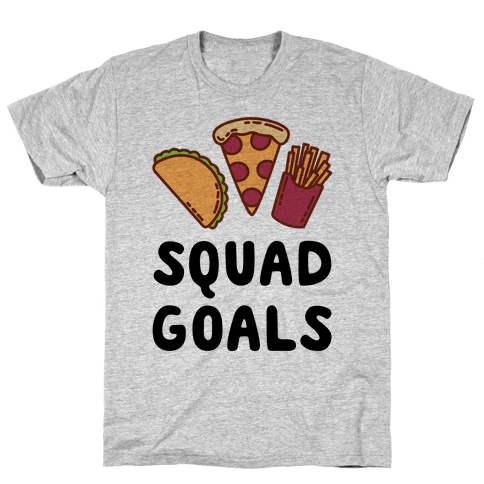 Junk Food Squad Goals Mens T-Shirt