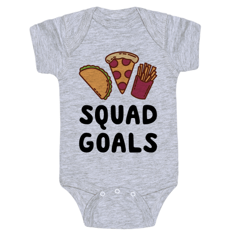 Junk Food Squad Goals Baby Onesy