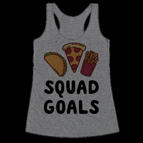 Junk Food Squad Goals Racerback Tank Top