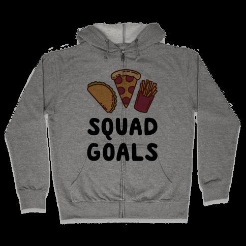 Junk Food Squad Goals Zip Hoodie