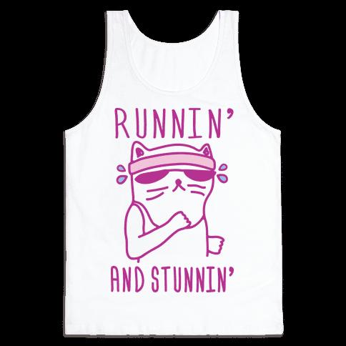 Runnin' And Stunnin' Cat Tank Top