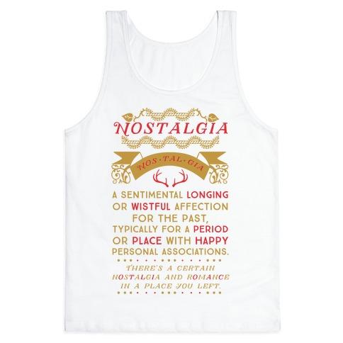 Nostalgia Definition Tank Top