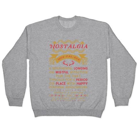 Nostalgia Definition Pullover