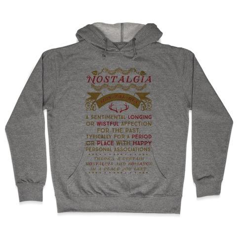 Nostalgia Definition Hooded Sweatshirt