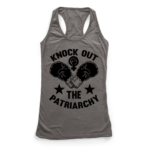 Knock Out The Patriarchy Racerback Tank Top