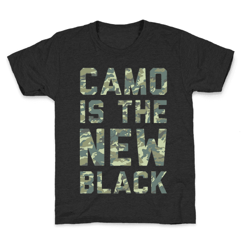 Camo is the New Black Kids T-Shirt