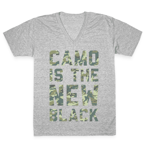 Camo is the New Black V-Neck Tee Shirt