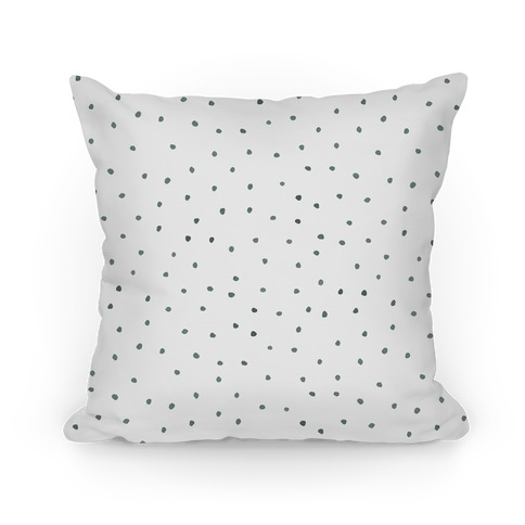 Black and White Watercolor Polka Dots Pillow
