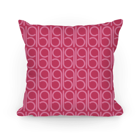 Pink Retro Pattern Pillow