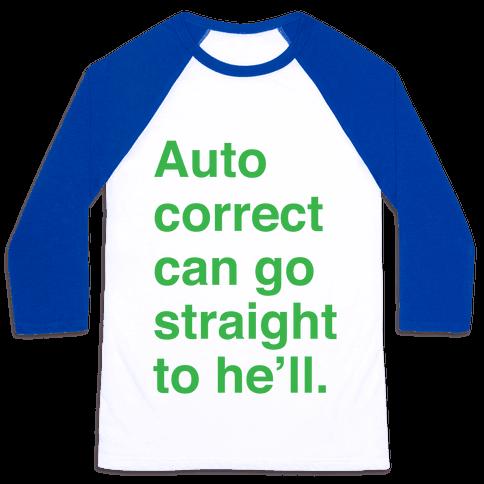 Autocorrect Baseball Tee