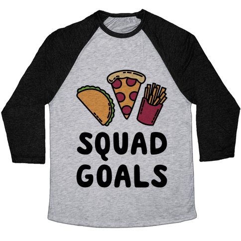 Junk Food Squad Goals Baseball Tee