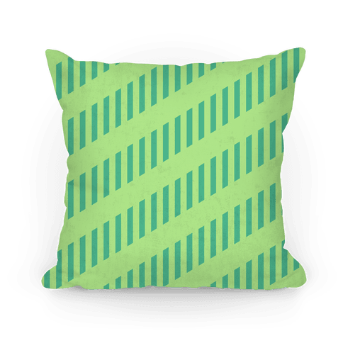 Lime Green Diagonal and Vertical Pillow