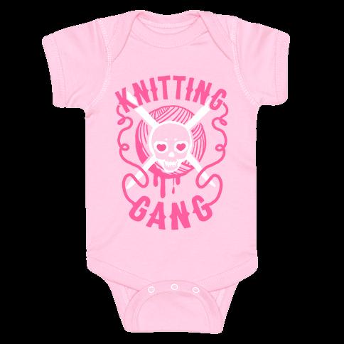 Knitting Gang Baby Onesy