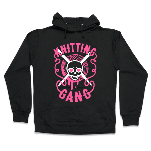 Knitting Gang Hooded Sweatshirt