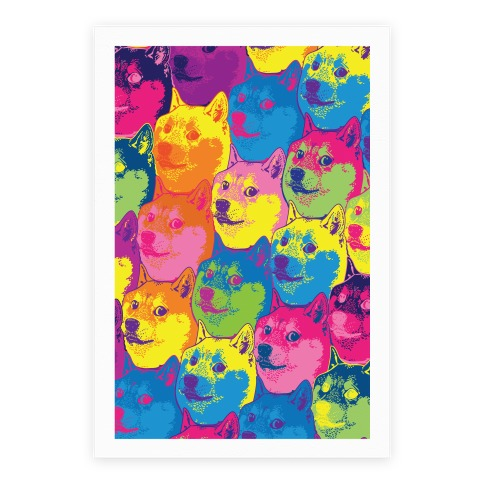 Pop Art Doge Poster