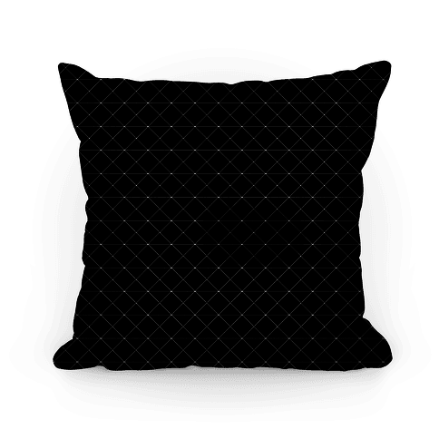 Black Grid Pattern Pillow