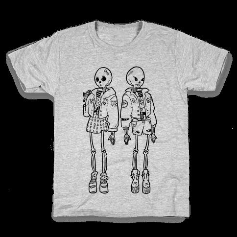 Skeleton Girls Kids T-Shirt